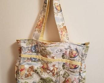 Homemade Winnie the Pooh Diaper Bag