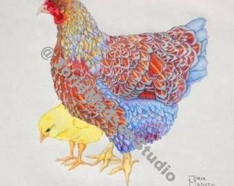 Farmhouse Chicken Print