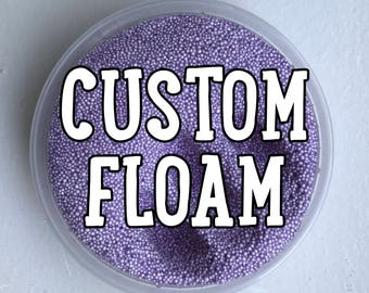 CUSTOM Foam Bead Slime (Scented) (Floam) (Micro beads)
