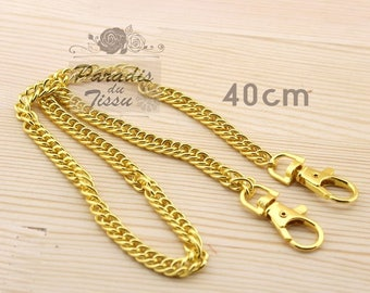 Set of 5 pieces 40cm chain mesh for bag with carabiner clip