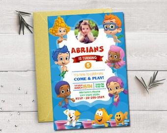 Bubble guppies invitation, bubble guppies birthday, bubble guppies party, bubble guppies printable, bubble guppies invites,