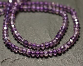 10pc - stone - Ametrine faceted 3x2mm - 4558550009173 beads
