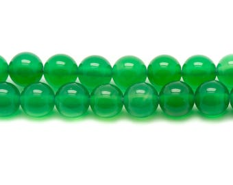 10pc - stone beads - green Onyx 8mm 4558550033956 balls