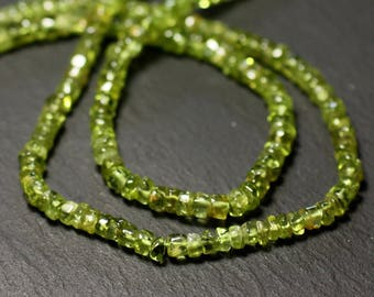 20pc - stone beads - Peridot Rondelle 3-5mm - 8741140012059 Heishi
