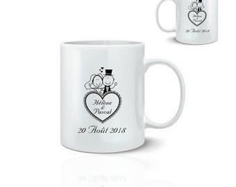 Name-mariage - ceramic mug mug 325 ml