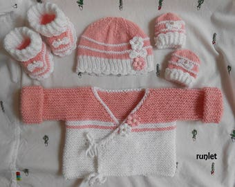 knited set baby girl
