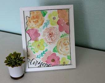 Arizona Floral Watercolor