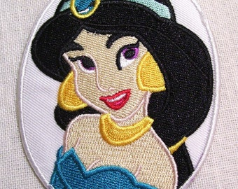 Princess FILLETTE JASMINE Ovale * 7.5 x 10 cm * Applique badge patch embroidered iron - iron