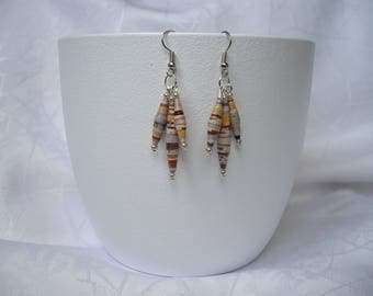 Paper and Pearl Earrings