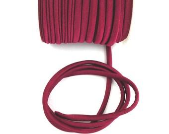 Elastic cord in Burgundy fabric for making headbands X 50 cm