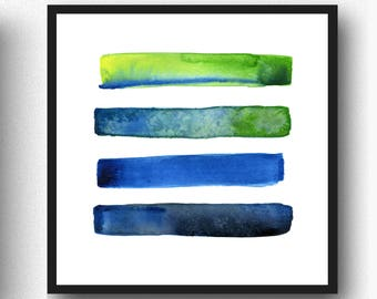 Abstract Print, DIGITAL DOWNLOAD, Modern Abstract Watercolor, Watercolor Painting,, Home Decor, Vibrant Colors, Minimalist Wall Art
