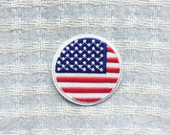 American Flag Patch  - Iron on Patch, Sew On Patch, Embroidered Patch