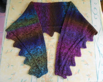 shawl angora wool and acrylic blended yarn, Brown and multicolor