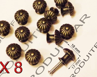 Set of 8 color Bronze filing drawer furniture business locker 18 mm button handle