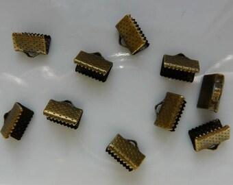 10 mm x 4 claw clasps bronze