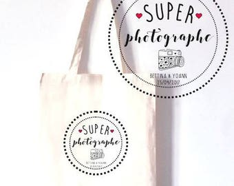 "PERSONALIZED TOTE BAG 100% COTTON ""GREAT PHOTOGRAPHER"""