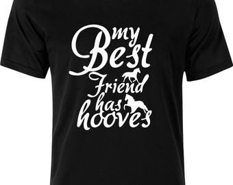My best friend has Hooves funny humour 100% cotton t shirt