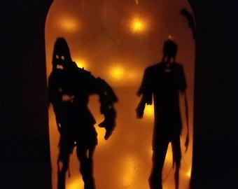 Halloween lighted fairy jar