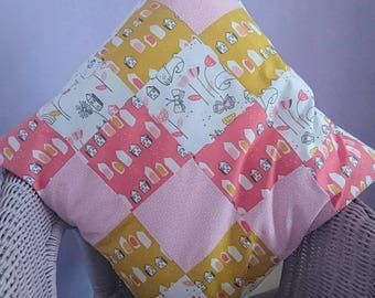 Children, Fox Grove, bright, patchwork, cushion
