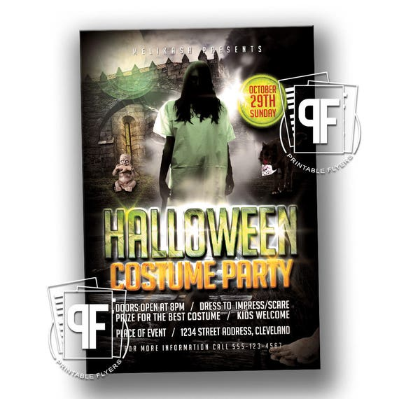 Halloween Costume Party Flyer Costume Party Invitation - Halloween costume party flyer