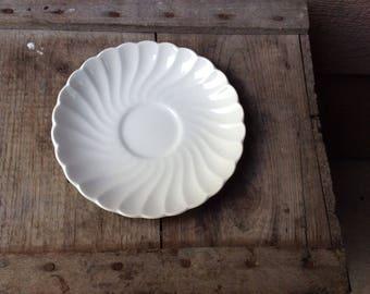White Ironstone Plate