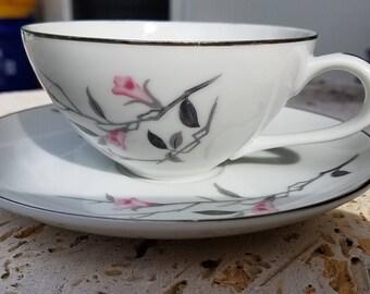 Cherry Blossom Fine China, Teacups & Saucer
