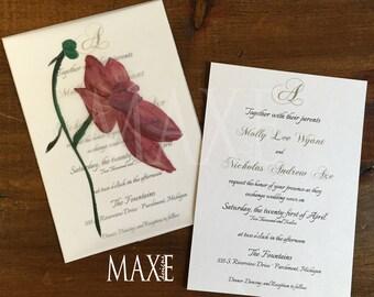 Classic Elegance Wedding Invitations by Maxe Invitations - Deposit
