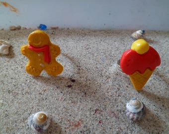 made of polymer clay adjustable children's rings and bread d spice and ice resin