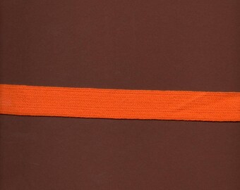 Woven wool orange edging wide 2.5 cm (stranded 947)
