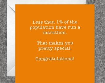 Greetings card for runners / running friend - marathon, congratulations