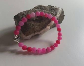 Cracked Agate (6 mm beads) bracelet