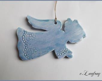 Blue Angel pastel hanging earthenware, large model