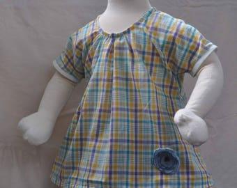 Blouse short sleeves for little girls 3 years