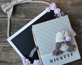 Set Slate and Annie cookbook in shabby chic style