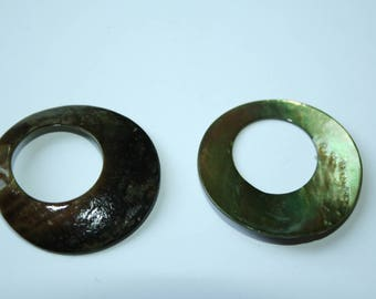 Ring Pearl khaki 3 cm