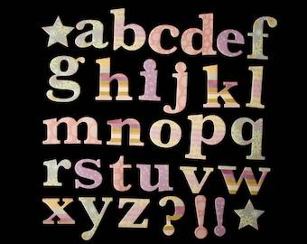 Cardboard Kit Pastel alphabet