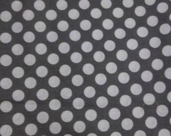 Coupon 35 x 55 grey spotted cotton, coupon patchwork fabric, fabric Cranston Village