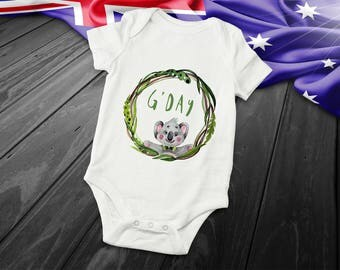 New baby gift etsy baby shower gift new baby gift baby clothes cute baby clothes australian made australian animals personalised negle Choice Image