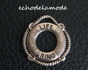 "1 ""Lifeline"" Silver Pendant charm"