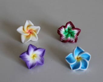 1 set of 4 flowers of Polynesia, 15 mm polymer ref No. 9