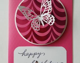 Pink Birthday Card