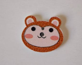❤ button monkey wood two hole