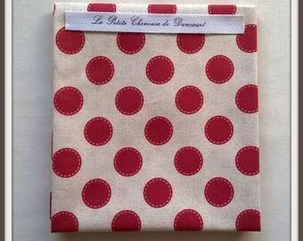 Tilda Swen carmine red spot fabric coupon