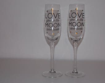 Duo champagne glass