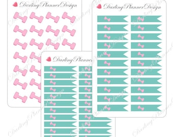 Exercise Planner Stickers - Icon and Flags
