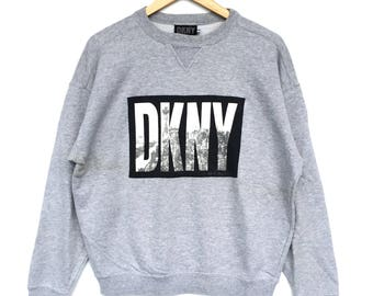 Swagger!! DKNY Big Logo Spell out Sweatshirt / Hoodie Hip Hop style / Swagger