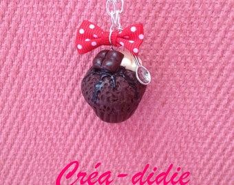 Chocolate muffin necklace.