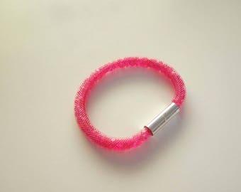 """Bracelet style """"Stardust"""" - Fuschia"""