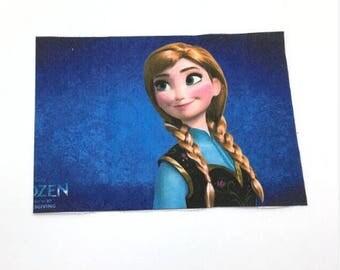 Fabric ANNA snow Queen