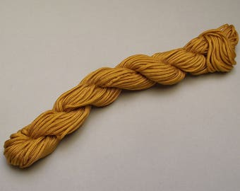 synthetic thread 18 meters shamballa Ochre yellow 2 mm.